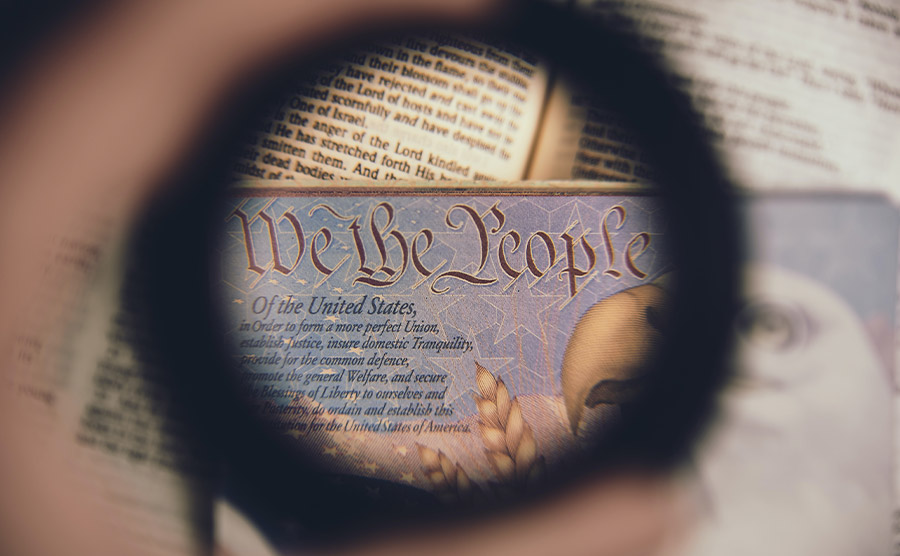 The constitution seen through a small hole